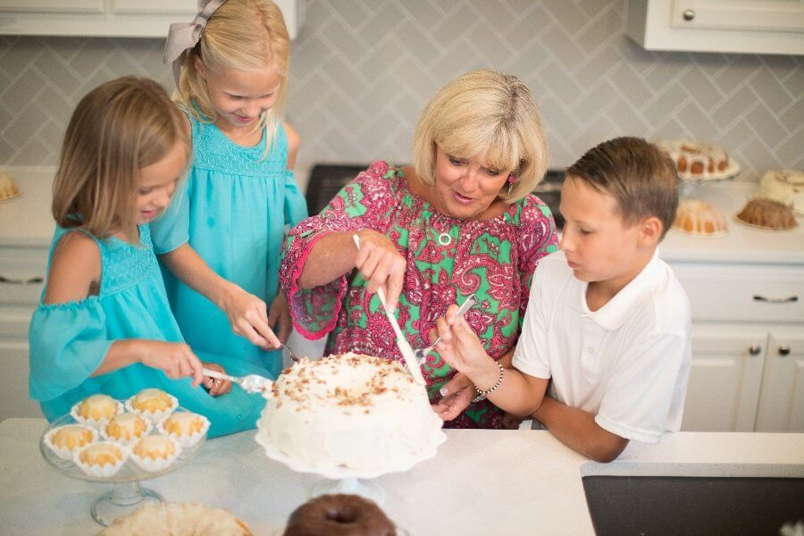 Adding Frosting on a Cake